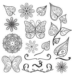 Summer hand drawn elements set vector
