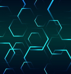 Abstract background with blue hexagon vector image