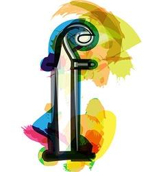 Artistic Font - Letter f vector image