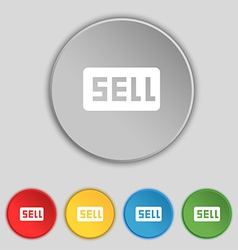 Sell contributor earnings icon sign symbol on five vector