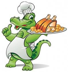Alligator chef vector