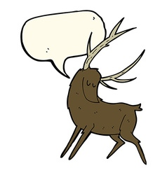 Cartoon stag with speech bubble vector