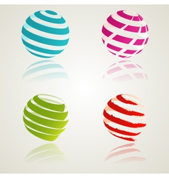 Abstract color icons vector image