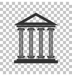 Historical building  dark gray icon vector