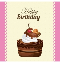 Cake icon happy birthday design graphic vector