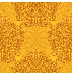 Ethnic decorative handmade orange seamless pattern vector