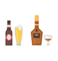 Alcohol beer drinks beverages cocktail whiskey vector