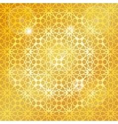 Arabic islamic patterngold backgroundGeometrical vector image vector image