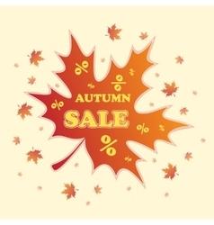 Autumn sale background vector