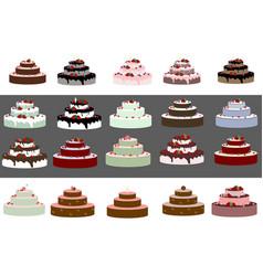 Big wedding or a birthday cake vector