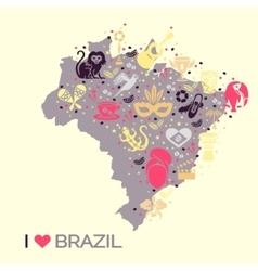 Brazilian thematic print 4 vector