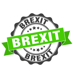 Brexit stamp sign seal vector