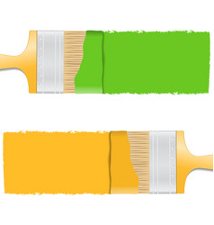 Brushes with paint vector image