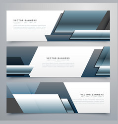Business banners set of three professional headers vector