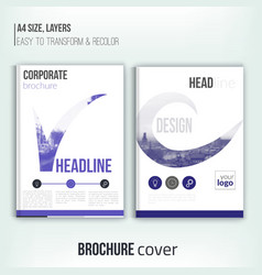 Clean brochure cover template with blured duotone vector image vector image