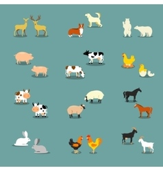 Farm animals and pets vector image vector image