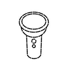 Flashlight cartoon isolated vector