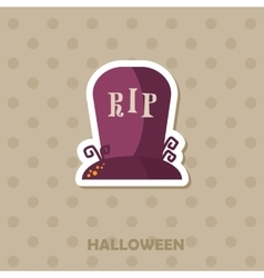 Grave icon halloween sticker vector