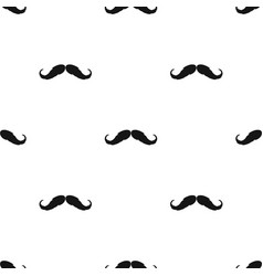 Hipster mustache icon in black style isolated on vector