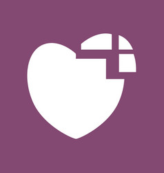 Icon heart disease vector