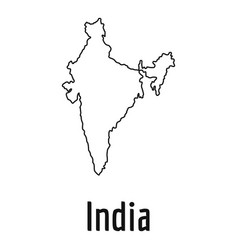 india map thin line simple vector image