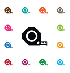 isolated roulette icon instrument element vector image