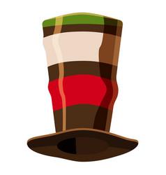 italian fan soccer hat icon cartoon style vector image
