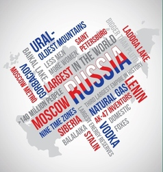 Russia flag word vector