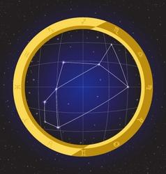 Sagittarius star horoscope zodiac in fish eye vector