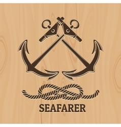 Seafarer club emblem vector