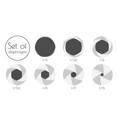 set the lens aperture vector image vector image