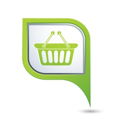 Shop basket on map pointer vector image