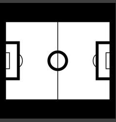 soccer field icon vector image vector image
