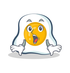 Surprised fried egg character cartoon vector