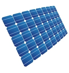 The solar cell shown in perspective vector image