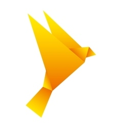 Fly silhouette low poly icon vector