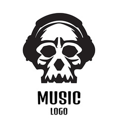 Sound studio logo music skull logo vector