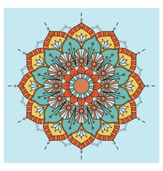 Vintage colorful mandala with floral ornament vector