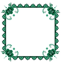 Frame with stylized flowers vector