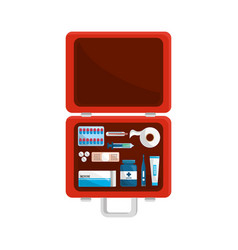 Color first aid kit icon vector