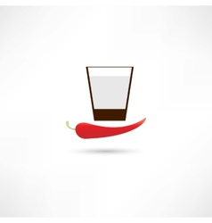 Pepper and drink vector image