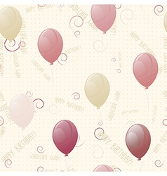 Balloons happy birthday seamless texture vector