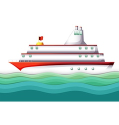 A big ship in the ocean vector