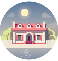 Flat house icon vector