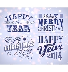 Christmas decoration collection vector