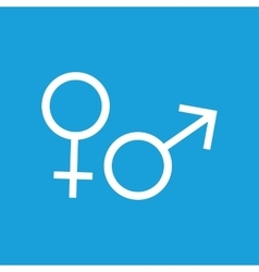 Gender symbols icon white vector