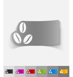 Realistic design element three coffee beans vector