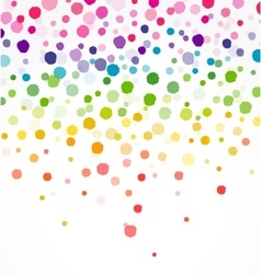 Colorful confetti on round vector
