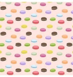 Seamless pattern with colorful macaroons vector