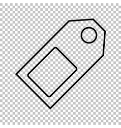 Price tag line icon vector